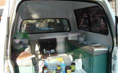 Inside a mobile clinic