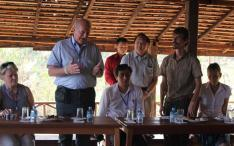 French MP Yves Fromion inaugurates the Mahout Vocational Center in Sayaboury